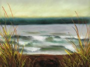Waves Pastels - Autumn at the Lake by Frances Marino