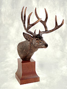 Deer Sculpture Originals - Autumn Attire by Rudl Mergelman