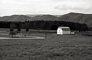 Kathleen K Parker - Autumn Barn in Green Bank WV bw