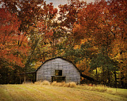 Autumn Barn Print by Jai Johnson
