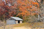 Captive Images Photography Posters - Autumn behind the Homestead Poster by John Kiss