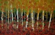 Autumn Birch Print by Debra Kent