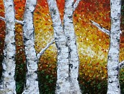 Annmarie Vierick Art - Autumn Birches by Annmarie Vierick