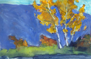 Liberty Paintings - Autumn Birches by Mary Byrom