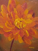 Aster Paintings - Autumn Blaze by Nancy Craig