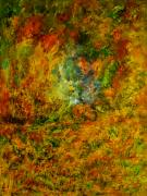 Colors Of Autumn Painting Prints - Autumn Break at the Mountains Print by MM Zurahov