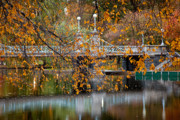 Back Bay Prints - Autumn Bridge Print by Susan Cole Kelly