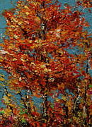 Quebec Paintings - Autumn Burst by Joanne Abbott