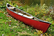 Canoe Metal Prints - Autumn Canoe Metal Print by Thomas R Fletcher