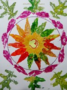 Mandal Paintings - Autumn Chakra by Sonali Gangane