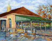 Louisiana Artist Painting Prints - Autumn Coffee Print by Dianne Parks