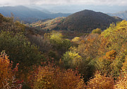 North Carolina Mountains Prints - Autumn Color in the Roan valley Print by Keith Clontz