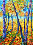Textures And Colors Painting Prints - Autumn Colors Print by Ana Maria Edulescu