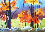 Berkshire Hills Paintings - Autumn Colors by Len Stomski