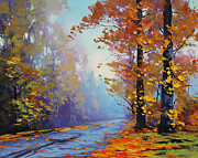 Autumn Landscape Paintings - Autumn Colours by Graham Gercken
