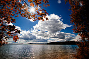 Clouds Photo Prints - Autumn  Confidential  Print by Bob Orsillo