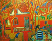 Autumn Cottages Print by Brian Simons