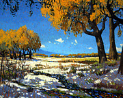 Cottonwood Paintings - Autumn Creek Bed by Kenneth Green
