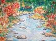 Original - Autumn Creek by Mary Sedici