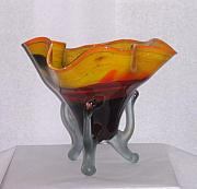 Vase Glass Art - Autumn by Dan Bancila