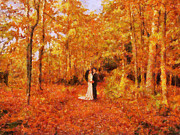 In Love Couple Prints - Autumn Dance Print by Jai Johnson