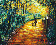 Oil Pastels Paintings - Autumn Days by Melissa Gallardo