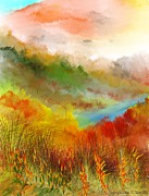 Abstract Expressionism - Autumn Daze by David Lane