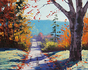 Fall Trees Posters - Autumn Delight Poster by Graham Gercken