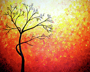 Tree Art Sculpture Posters - Autumn Evening Poster by Daniel Lafferty