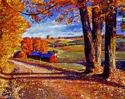 Heartland Paintings - Autumn Evening by David Lloyd Glover