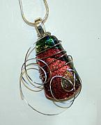 Fused Glass Jewelry - Autumn Falls by Jeannie Capranica