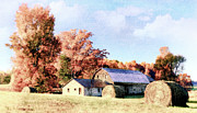 Barns North Carolina Prints - Autumn Farm I Print by Dan Carmichael