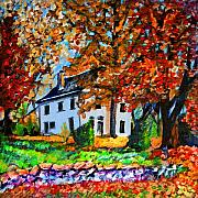 Change Paintings - Autumn Farmhouse by Laura Heggestad