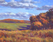 Impressionism Art - Autumn Fields by Michael Camp