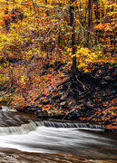 Taughannock Falls Posters - Autumn Flow Poster by Mark Papke