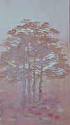 Folkartanna Painting Metal Prints - Autumn Fog Metal Print by Anna Folkartanna Maciejewska-Dyba