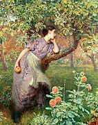 Green Rose Prints - Autumn Print by Frederick Walker