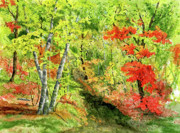 Minnesota Art - Autumn Fun by Mary Tuomi