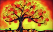 Tree Art Glass Art Prints - Autumn Print by Gabriela Stavar