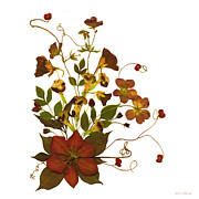 Kathie Mccurdy Prints - Autumn Garden Bouquet Print by Kathie McCurdy
