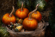 Fall Scenes Acrylic Prints - Autumn - Gourd - Pumpkins and some other things  Acrylic Print by Mike Savad