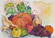 Husks Posters - Autumn Harvest Poster by Terri Mills
