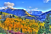 Telluride Framed Prints - Autumn Highway Framed Print by Scott Mahon