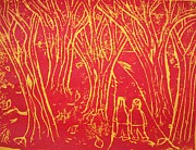 Relief Print Reliefs - Autumn Hike by Ward Smith