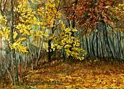 Rust Paintings - Autumn Hollow II by Mary Tuomi