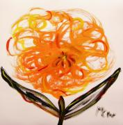 Philadelphia Drawings - Autumn Hope Flower by Mary Carol Williams