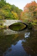 Blackstone River Prints - Autumn in Blackstone Valley Print by Jenna Szerlag