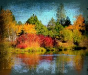 Colors Of Autumn Mixed Media Prints - Autumn in Cassel Print by Irina Hays