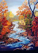 Ruth Housley Metal Prints - Autumn in Cunningham Park SOLD Metal Print by Ruth  Housley