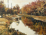 Indiana Autumn Painting Prints - Autumn in Indianapolis Print by Addie May Hirschten